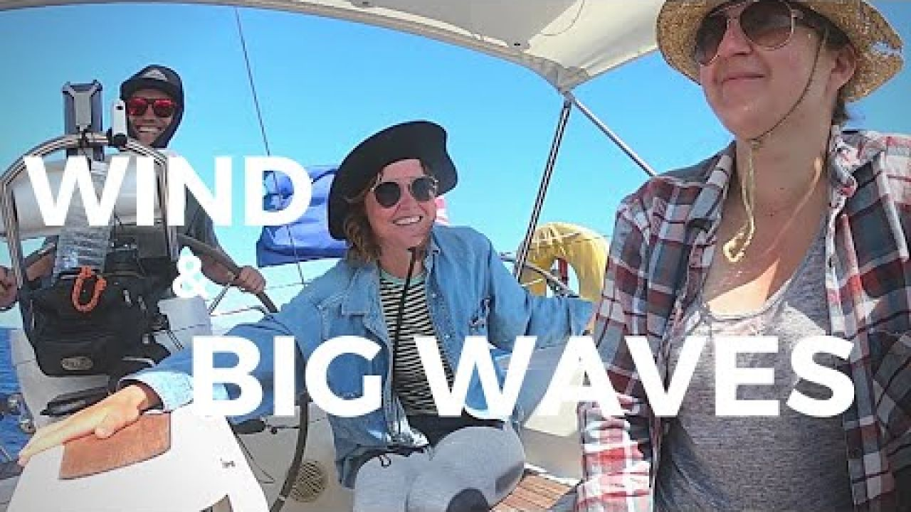 BIG WAVES & SEASICKNESS on our first GREEK ISLAND HOP | SAIL GREECE // Project Freewheel Ep. 23