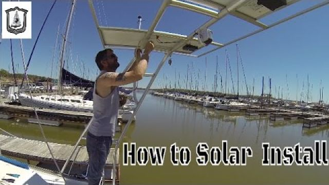 How to Install Solar Panel System on a Boat - Grey Ghost Sailing