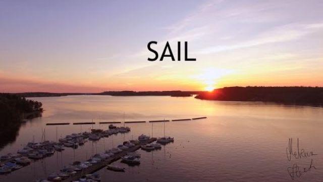 Sail captured by Dji Phantom 4K