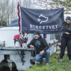 Dog owner sailing to the Thames to collect gifts for homeles...