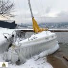 Police search for owner of another icy sailboat on Okanagan...