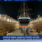 Video : World's largest active sailing ship Star of India re...