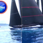Excruciating moment multi million dollars Racing yachts slam...